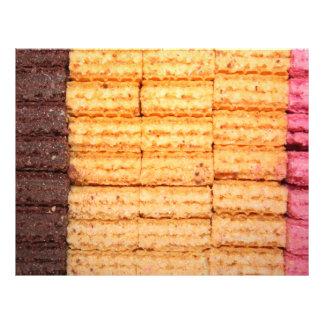 Biscoitos da bolacha do açúcar panfleto personalizado