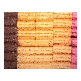 Biscoitos da bolacha do açúcar panfletos