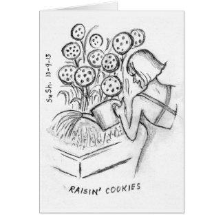Biscoitos de Raisin - cartão de nota