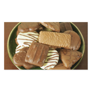 Biscoitos do chocolate cartão de visita