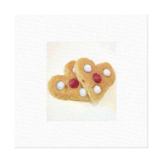 Biscoitos do dia dos namorados por Ishah. Impressão Em Tela