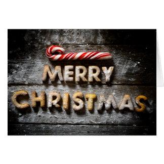 Biscoitos do Feliz Natal - cartão dobrado