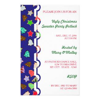 Biscoitos do feriado do Natal da cor da picareta Flyer 13.97 X 21.59cm