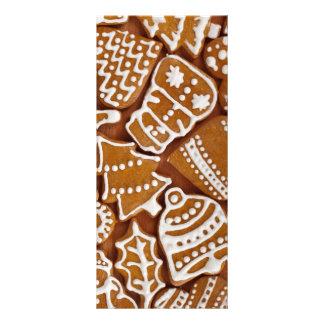 Biscoitos do feriado do pão-de-espécie do Natal 10.16 X 22.86cm Panfleto