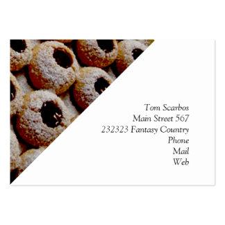 biscoitos do Natal Cartoes De Visitas
