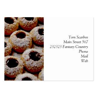 biscoitos do Natal Cartões De Visita