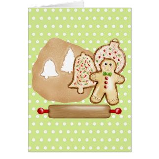 Biscoitos do Natal do cozimento Cartão