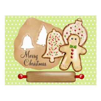Biscoitos do Natal do cozimento Cartão Postal