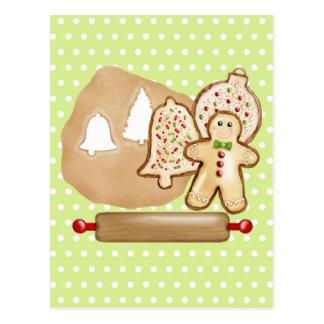 Biscoitos do Natal do cozimento Cartões Postais