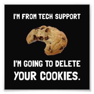 Biscoitos do suporte técnico impressão de foto
