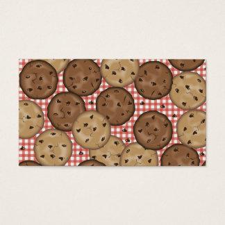 Biscoitos dos pedaços de chocolate cartão de visitas