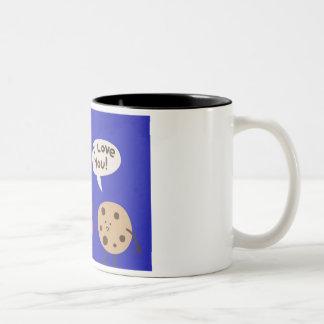 Biscoitos e caneca do amor-Dois-Tom do leite