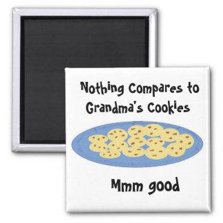 Biscoitos na casa das avós ímã quadrado