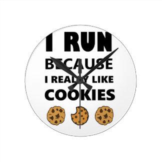 Biscoitos para a saúde, corredor do funcionamento relógio redondo