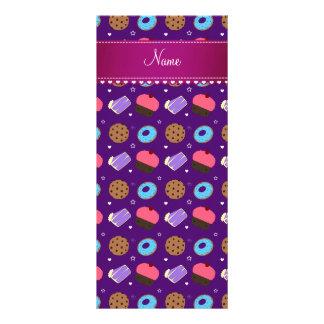 Biscoitos roxos conhecidos do bolo das rosquinhas 10.16 x 22.86cm panfleto