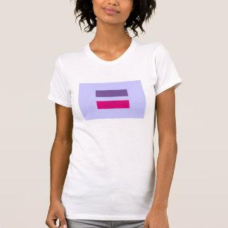 bisexual alegre da igualdade do casamento do símbo camiseta