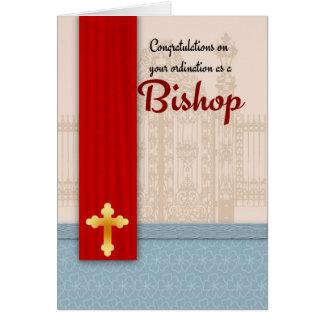 Bishop Classificação Pergaminho dos parabéns Cartão Comemorativo