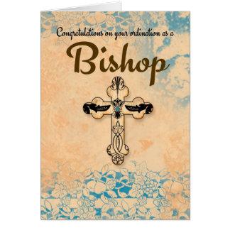 Bishop Classificação Pergaminho dos parabéns Cartoes