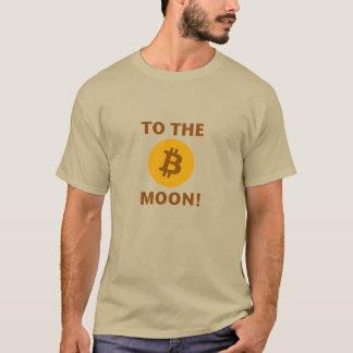 Bitcoin ao t-shirt da lua camiseta