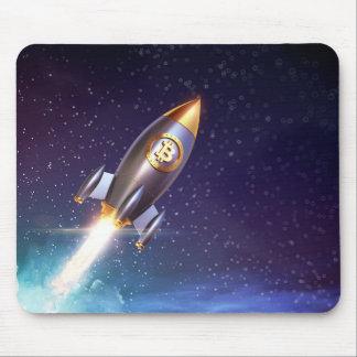 Bitcoin BTC Rocket Mousepad