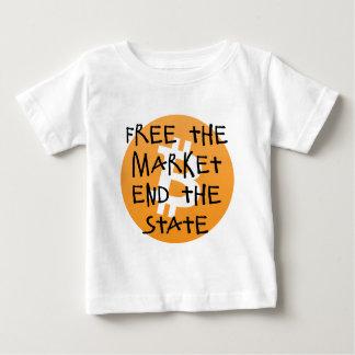 Bitcoin - livre a extremidade do mercado o estado camiseta para bebê