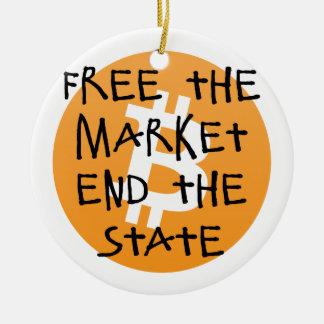 Bitcoin - livre a extremidade do mercado o estado ornamento de cerâmica
