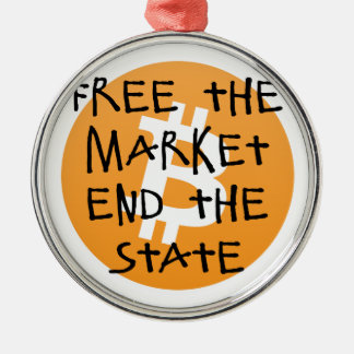 Bitcoin - livre a extremidade do mercado o estado ornamento de metal