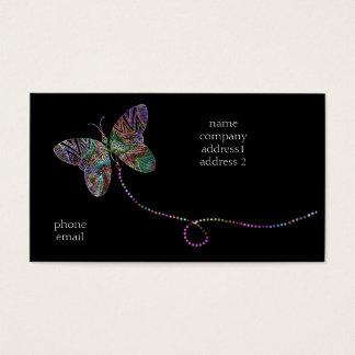 bizcard da borboleta cartão de visitas