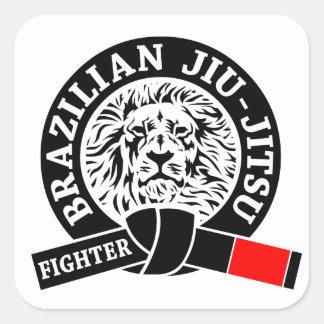BJJ - Brasileiro Jiu - Jitsu Adesivos Quadrados