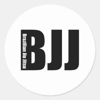 BJJ - Brasileiro Jiu Jitsu Adesivo Redondo