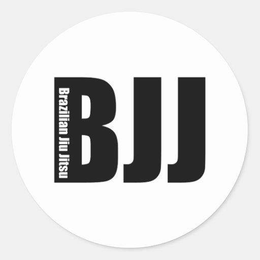 BJJ - Brasileiro Jiu Jitsu Adesivo Em Formato Redondo