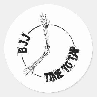 BJJ - Hora de bater Adesivos Em Formato Redondos