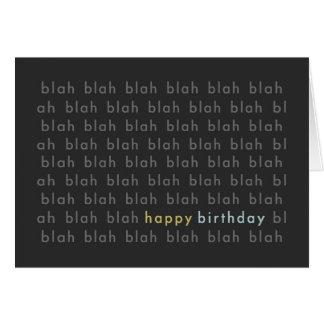 Blá - cartão blá da tipografia do feliz