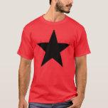Black Anarchy estrela (clássico) Camiseta