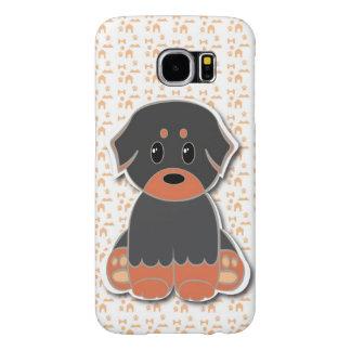 Black and tan cute puppy capas samsung galaxy s6
