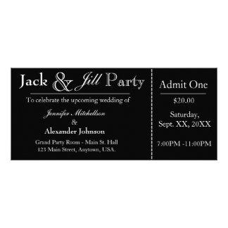 Black Jack e convite do bilhete do chá de Jill