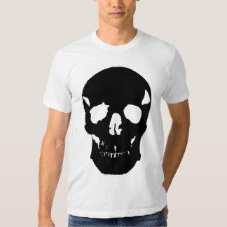 Black skull camiseta
