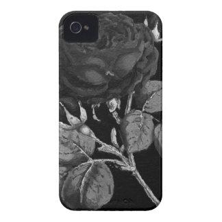 Black&White pintou o abstrato aumentou Capa Para iPhone 4 Case-Mate