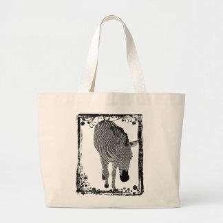 Black & White Zeb Art Bag