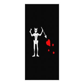 Blackbeard-Branco 10.16 X 22.86cm Panfleto