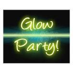 Blacklight amarelo/verde do partido do fulgor, panfletos personalizado
