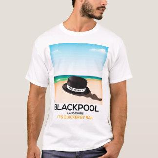 """Blackpool """"beija-me rapidamente"""" poster do trem do camiseta"""