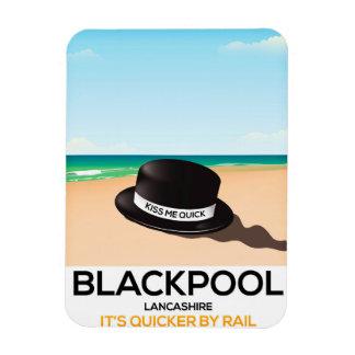 "Blackpool ""beija-me rapidamente"" poster do trem do ímã"