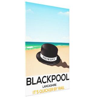 """Blackpool """"beija-me rapidamente"""" poster do trem do impressão em canvas"""