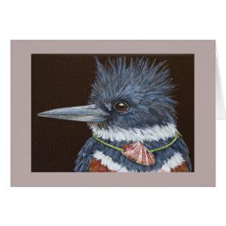 Blanche engraçado o cartão do martinho pescatore
