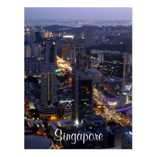 bldgs de singapore cartoes postais