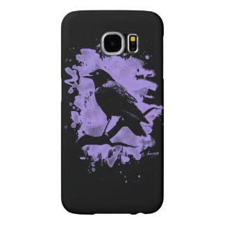 Bleached Crow violet Capa Para Samsung Galaxy S6