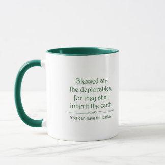 Blessed é a caneca 1 dos deplorables no verde