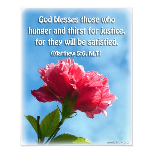 Blessed é aquelas que desejam e sede panfletos personalizados