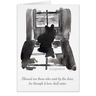 """""""Blessed é aquelas que esperam"""" o cartão dos"""